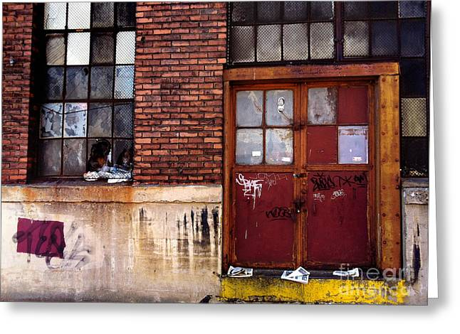 Doors Greeting Cards - Strip District Doorway Number Seven Greeting Card by Amy Cicconi