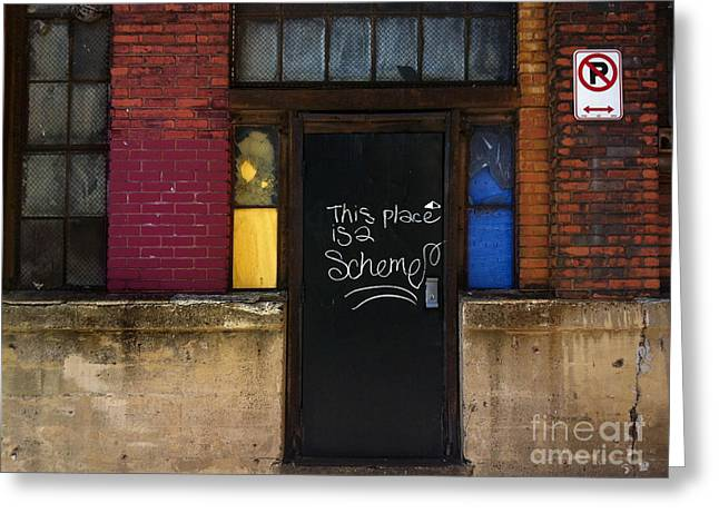 Brick Greeting Cards - Strip District Doorway Number Six Greeting Card by Amy Cicconi