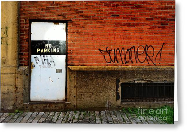 Cobblestone Greeting Cards - Strip District Doorway Number Two Greeting Card by Amy Cicconi