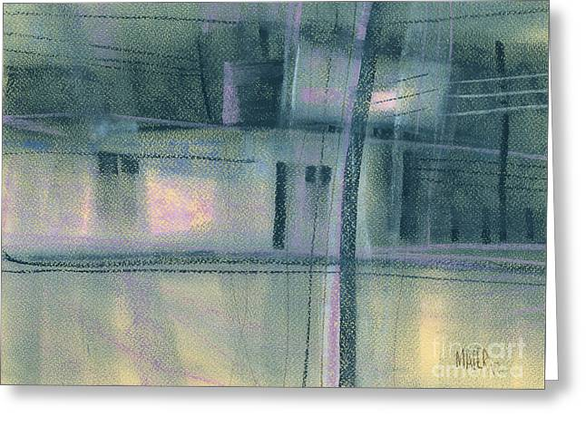 Stripped Greeting Cards - Strip Mall Abstract Greeting Card by Donald Maier