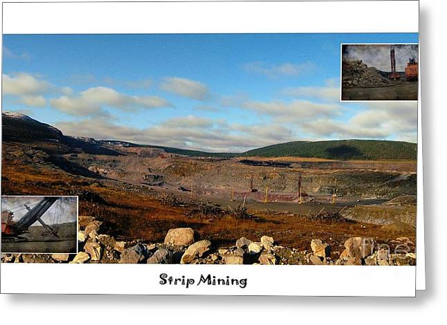 Mining Photos Digital Greeting Cards - Strip Mining - Environment - Panorama - Labrador Greeting Card by Barbara Griffin