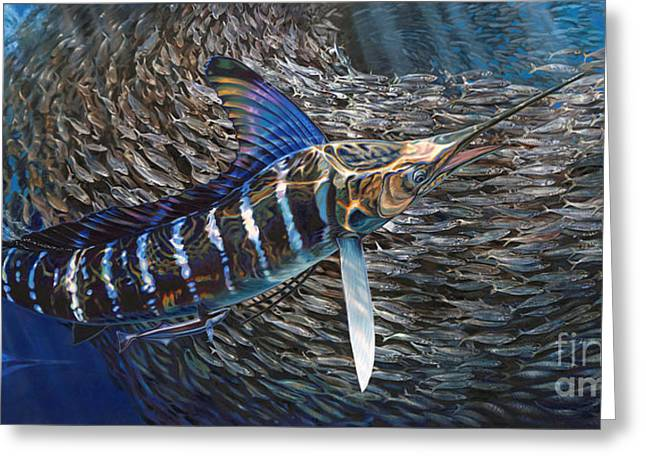 Striped Marlin Greeting Cards - Striped Gem Greeting Card by Jason Mathias