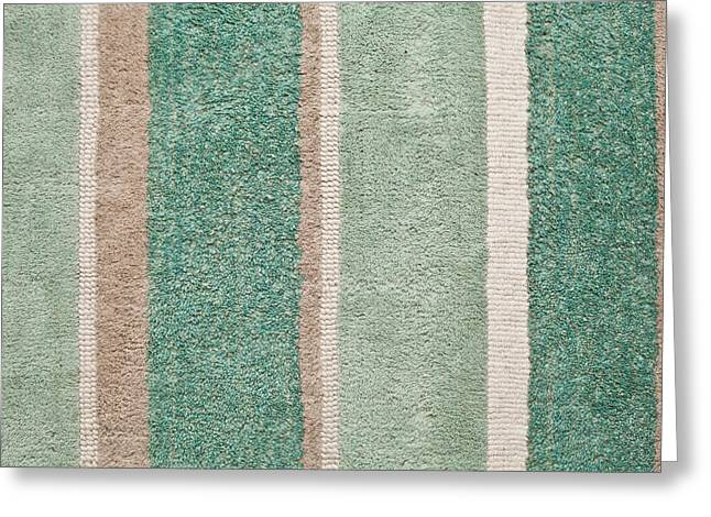 Tapestries Textiles Greeting Cards - Striped Rug  Greeting Card by Tom Gowanlock