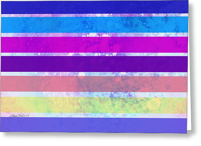 Award Digital Greeting Cards - Stripes abstract art Greeting Card by Ann Powell
