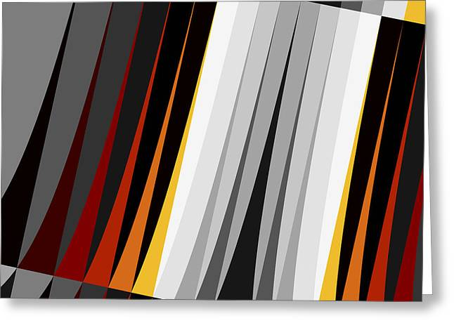 Sharp Points Digital Greeting Cards - Stripes Greeting Card by David Ridley