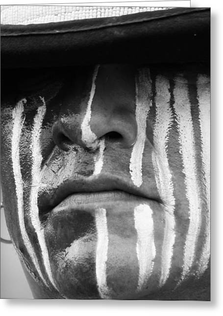 Cree Greeting Cards - Stripes of War Greeting Card by Jerry Cordeiro