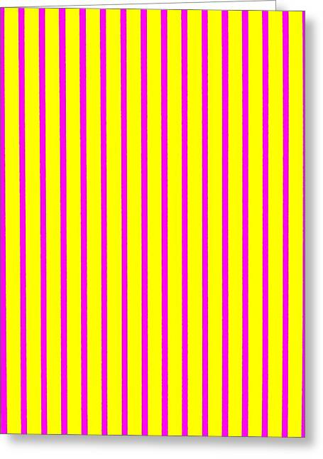 Provocation Greeting Cards - Stripes on Yellow Wall Greeting Card by Dietmar Scherf