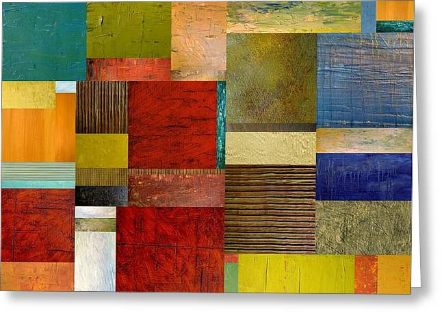 Strips and Pieces l Greeting Card by Michelle Calkins