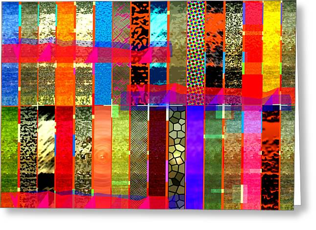 Jewelry Posters Greeting Cards - Stripy Greeting Card by James Raynor