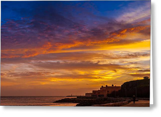 Skyclouds Greeting Cards - Strokes Of Sunset I Greeting Card by Marco Oliveira
