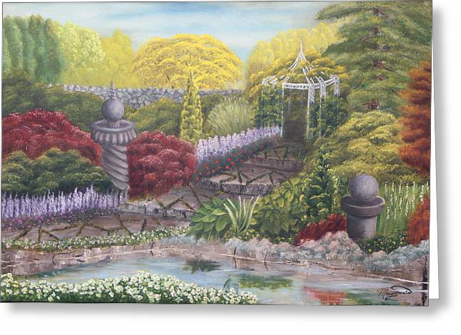 Garden Statuary Greeting Cards - Stroll with  me  Greeting Card by Lou Magoncia