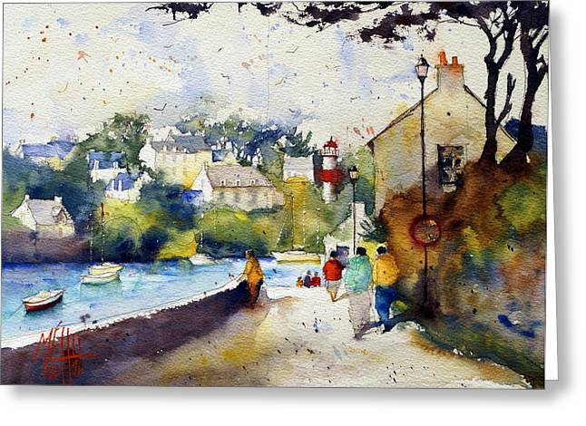 Lorient Greeting Cards - Strollers at Doelan Greeting Card by Andre MEHU