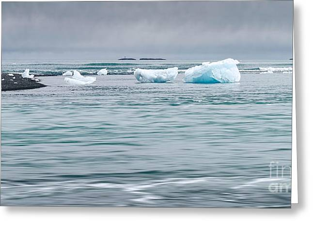 Jökulsárlón Greeting Cards - Strolling Among the Mini-Bergs Greeting Card by Royce Howland