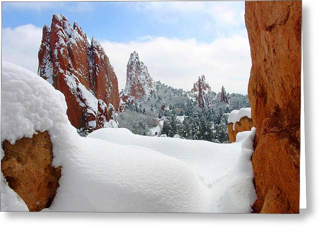 Monolith Greeting Cards - Strolling in a Winter Wonderland Greeting Card by John Hoffman