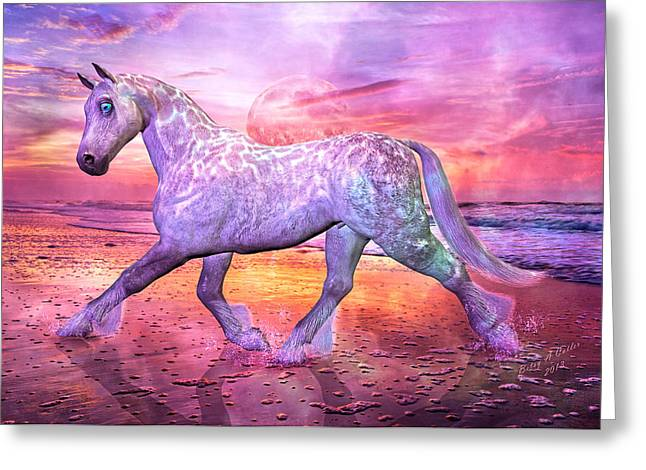 Trot Greeting Cards - Strolling in Paradise Greeting Card by Betsy C  Knapp