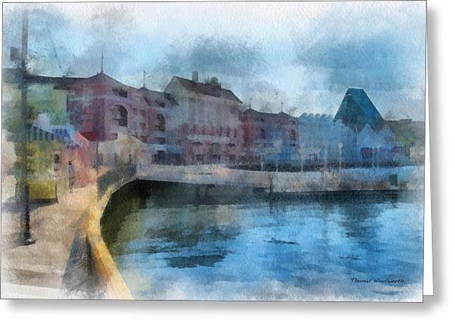 Hospital Theme Greeting Cards - Strolling On The Boardwalk WDW 01 Photo Art Greeting Card by Thomas Woolworth