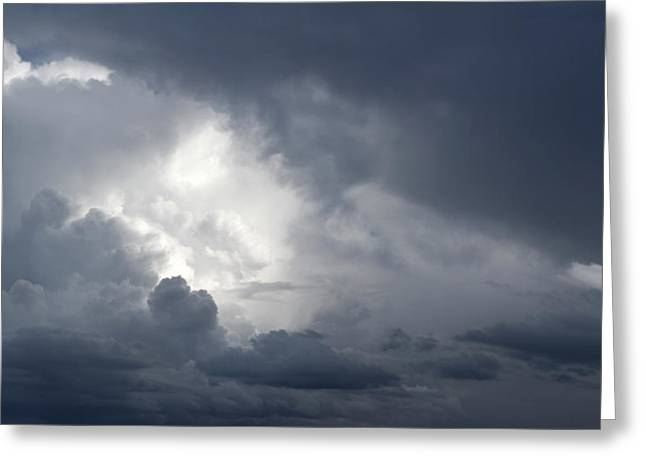 Dramatic Sky Greeting Cards - Strom clouds Greeting Card by Les Cunliffe