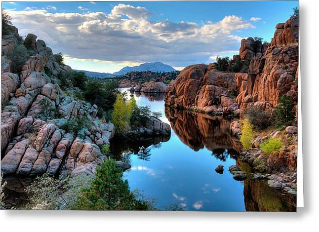 Watson Lake Greeting Cards - Strong and peaceful Greeting Card by Thomas  Todd