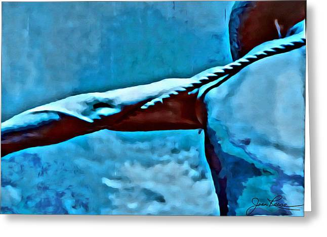 Bare Chested Greeting Cards - Strong Arm Pulling Rope Greeting Card by Joan Reese