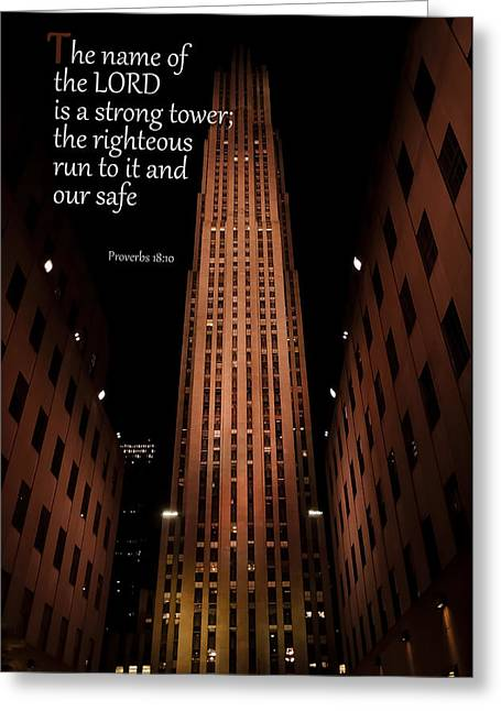 New Greeting Cards - Strong Tower Greeting Card by Sue Arms
