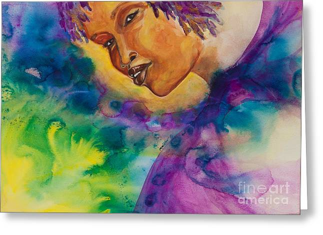 Strength Paintings Greeting Cards - Strong Women of the World  Diligence  Greeting Card by Ilisa  Millermoon