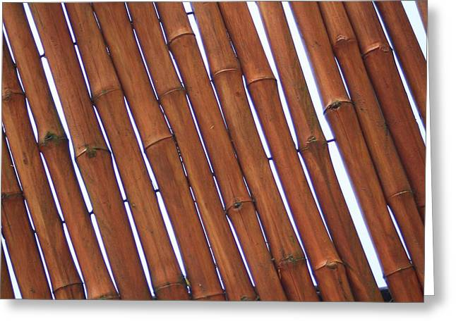 Bamboo Fence Greeting Cards - Stronger Together Greeting Card by Earnie Whittenberg
