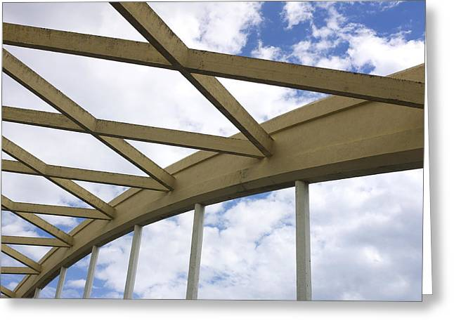 View From Below Greeting Cards - Structure Greeting Card by Bernard Jaubert