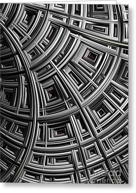 Meshing Greeting Cards - Structure Greeting Card by John Edwards