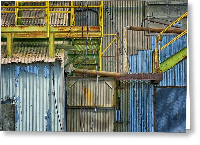 Manufacturing Greeting Cards - Structure.8262 Greeting Card by Gary LaComa