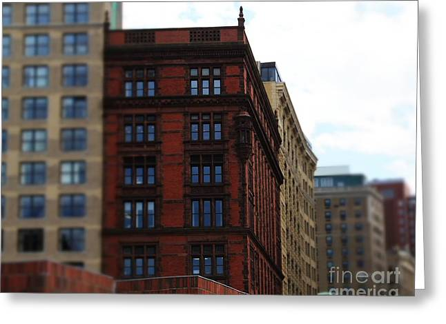 Boston Ma Greeting Cards - Structures Greeting Card by Pamela Walters