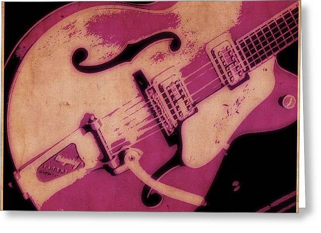 Tilly Art Greeting Cards - Strum in Pink Greeting Card by Tilly Williams