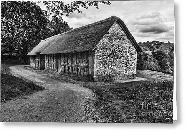 Wrexham Greeting Cards - Stryd Lydan Barn Mono Greeting Card by Steve Purnell