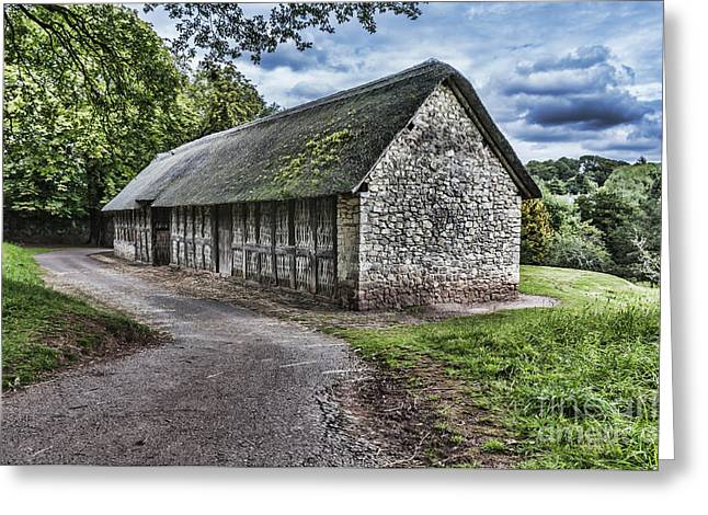 Wrexham Greeting Cards - Stryd Lydan Barn Greeting Card by Steve Purnell