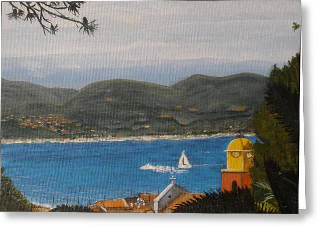 St.tropez Paintings Greeting Cards - St.Tropez France Greeting Card by Betty-Anne McDonald