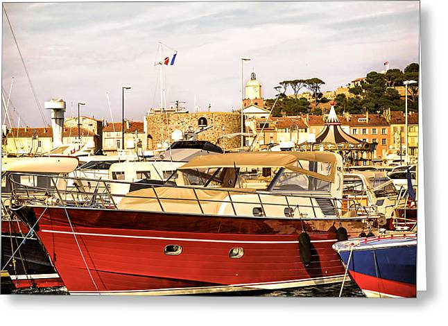 Saint-tropez Harbor Greeting Card by Elena Elisseeva