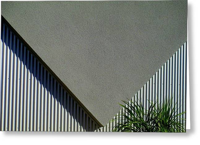 Stucco Triangle Greeting Card by Randall Weidner