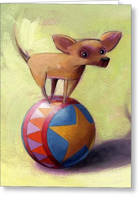 Chihuahua Portraits Greeting Cards - Stuck Greeting Card by Barbara Hranilovich