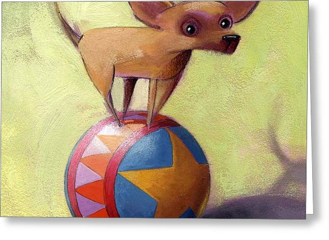 Chihuahua Portraits Greeting Cards - Stuck Greeting Card by Barbara Hranilovich