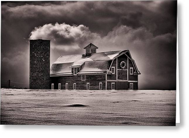 Old Barns Greeting Cards - Stuck in the Cold Greeting Card by Darren  White