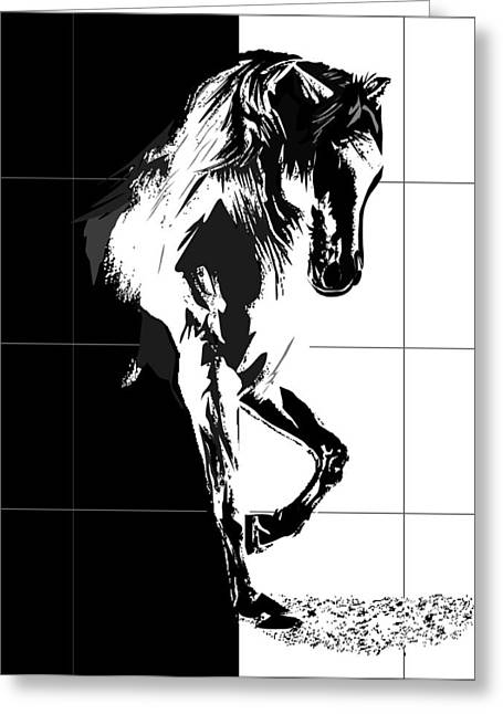 Dressing Room Digital Art Greeting Cards - Stud horse Greeting Card by Roby Marelly