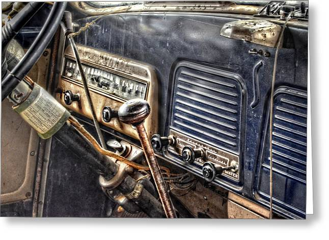 Old Trucks Greeting Cards - Studbebaker Dashboard Greeting Card by Ken Smith
