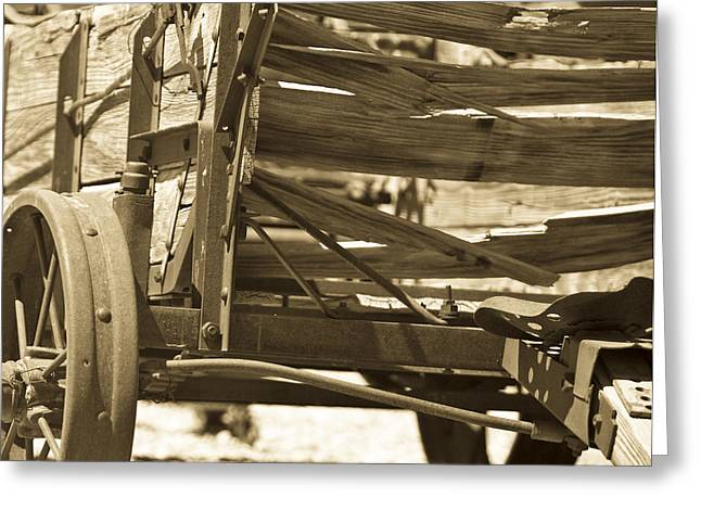 Wagon Wheels Photographs Greeting Cards - Studebaker  Wagon Greeting Card by Gilbert Artiaga