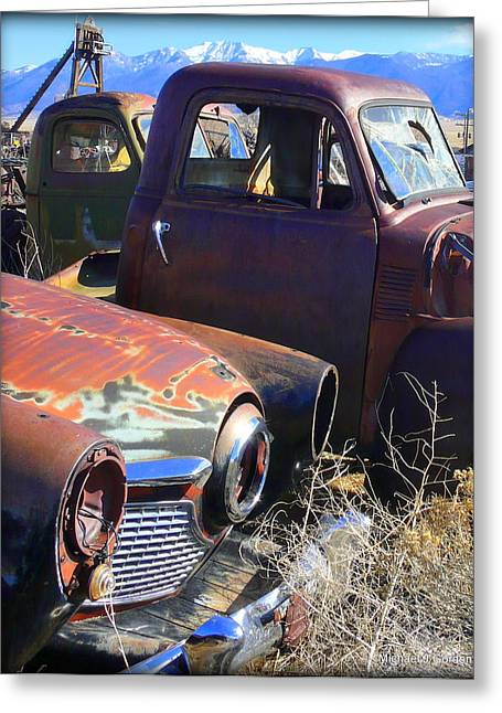 Mining Photos Greeting Cards - Studebaker Greeting Card by Michael Gordon