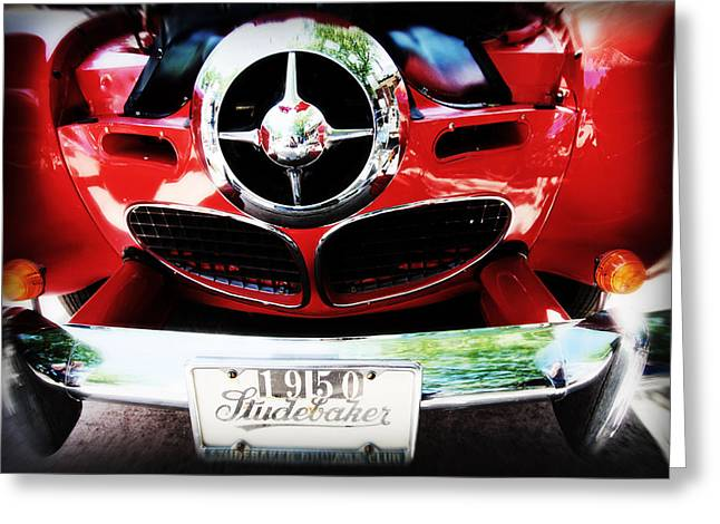 Chrome Grill Greeting Cards - Studebaker shines Greeting Card by Toni Hopper