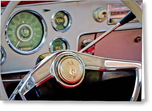 Studebaker Greeting Cards - Studebaker Steering Wheel Greeting Card by Jill Reger