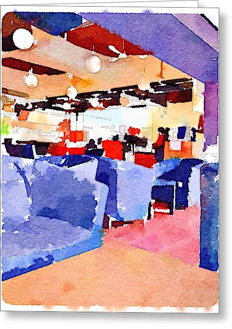 Campus Life Greeting Cards - Student cafeteria in Hong Kong university  Greeting Card by Yury Malkov