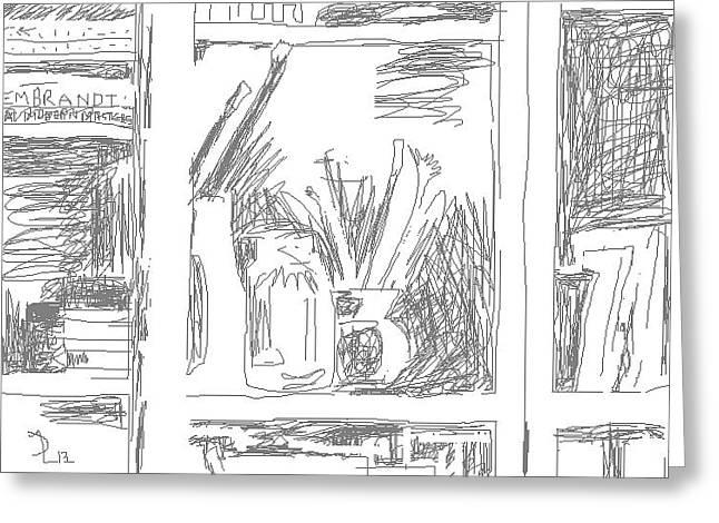 Interior Still Life Digital Art Greeting Cards - Studio Still Life 4 Greeting Card by Anita Dale Livaditis