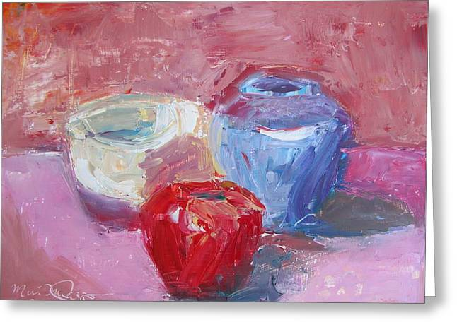 Cape Cod Mass Paintings Greeting Cards - Studio Still Life Greeting Card by Maria Milazzo