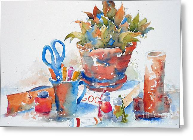 Scissors Greeting Cards - Studio Still Life Greeting Card by Pat Katz