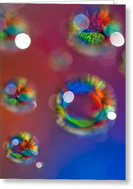 Fractal Orbs Greeting Cards - Study 148 Greeting Card by Al Hurley
